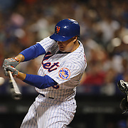 Kelly Johnson, New York Mets, batting during the New York Mets Vs Washington Nationals MLB regular season baseball game at Citi Field, Queens, New York. USA. 2nd August 2015. Photo Tim Clayton