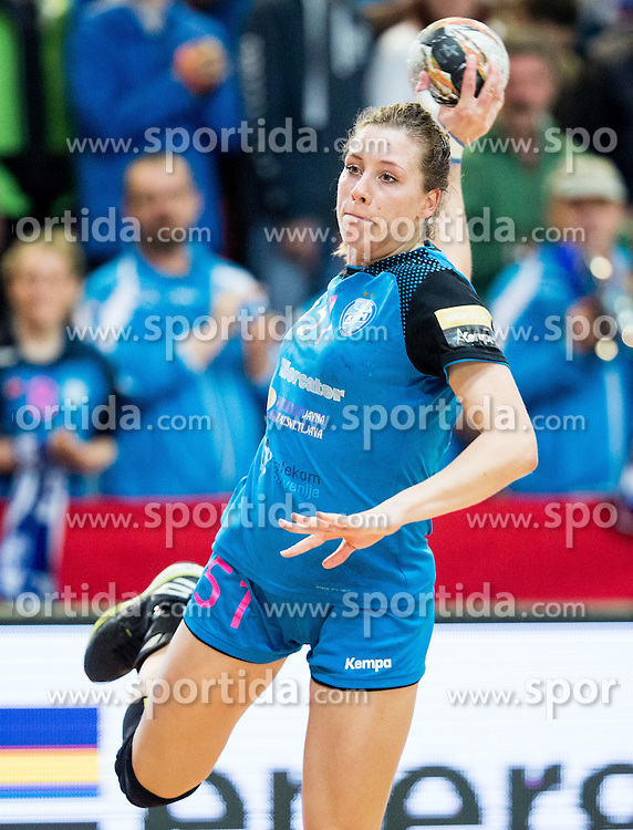 Marija Obradovic of RK Krim during 2nd Leg handball match between RK Krim Mercator and HC Lada Togliatti (RUS) in Semifinal of Women Cup Winners' Cup 2015/16, on April 9, 2016 in Arena Kodeljevo, Ljubljana, Slovenia. Photo by Vid Ponikvar / Sportida