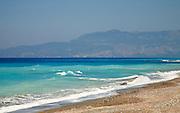 Coastal scenery in the far south west coast of Rhodes, Greece