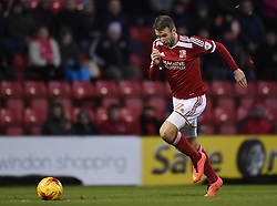 Swindon Town's Andy Williams on the attack against Chesterfield in the Sky Bet League One match between Swindon Town and Chesterfield at The County Ground on January 17, 2015 in Swindon, England. - Photo mandatory by-line: Paul Knight/JMP - Mobile: 07966 386802 - 17/01/2015 - SPORT - Football - Swindon - The County Ground - Swindon Town v Chesterfield - Sky Bet League One