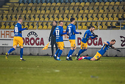 Players of NK Celje during football match between NK Celje and NK Bravo in Round #22 of Prva liga Telekom Slovenije 2019/20, 26 February, 2020 in Stadium Z'Dezele, Celje, Slovenia. Photo By Grega Valancic / Sportida