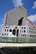 Israel Tel Aviv, The new modern residential and commercial Opera tower built over the remains of the old Opera house on the Tel Aviv beach front. has retained the original style of the original Opera house