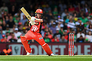 17th February 2019, Marvel Stadium, Melbourne, Australia; Australian Big Bash Cricket League Final, Melbourne Renegades versus Melbourne Stars; Marcus Harris of the Melbourne Renegades hits the ball through the off side
