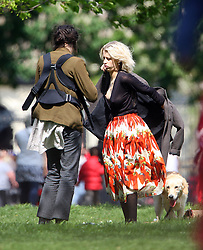 Peaches Geldof and partner Thomas Cohen spend the day in the park with new born boy Astala. Peaches who gave birth to Astala last month could be seen nursing her son in the open air. London. UK. 13/05/2012<br />BYLINE MUST READ : JAMESY/GOTCHA IMAGES<br /><br />Copyright by © Gotcha Images Ltd. All rights reserved.<br />Usage of this image is conditional upon the acceptance <br />of Gotcha Images Ltd, terms and conditions available at<br />www.gotchaimages.com