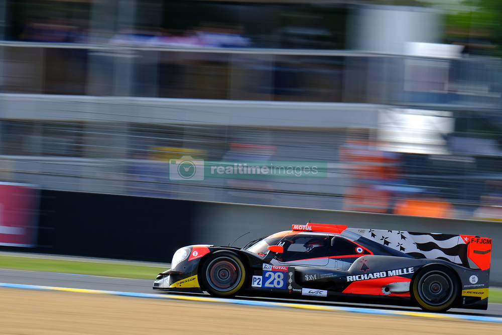 June 16, 2018 - Le Mans, Sarthe, France - TDS Racing ORECA 07 Gibson Driver Franois PERRODO (FRA) in action during the 86th edition of the 24 hours of Le Mans 2nd round of the FIA World Endurance Championship at the Sarthe circuit at Le Mans - France (Credit Image: © Pierre Stevenin via ZUMA Wire)
