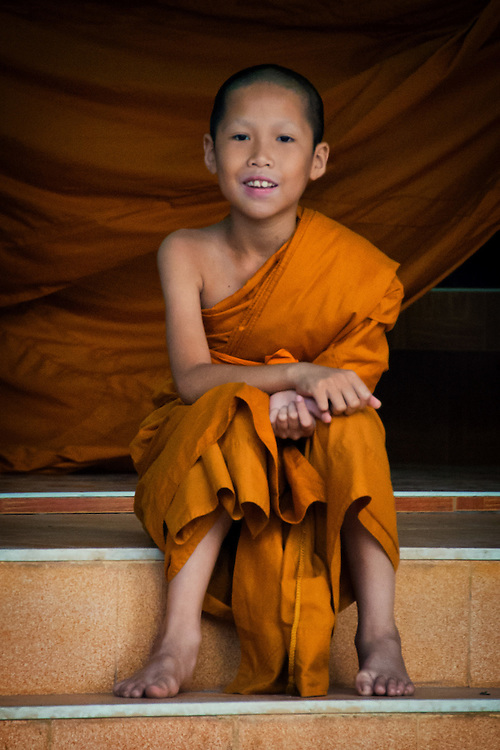 A Morning with the Young Monks in Rural Nakhon Nayok, Thailand.