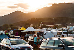 08.07.2017, Red Bull Ring, Spielberg, AUT, FIA, Formel 1, Grosser Preis von Österreich, Qualifying, im Bild Campingplatz, Uebersicht Sonnenuntergang // Campsite Overview while Sunset After the Qualifying of the Austrian FIA Formula One Grand Prix at the Red Bull Ring in Spielberg, Austria on 2017/07/08. EXPA Pictures © 2017, PhotoCredit: EXPA/ JFK