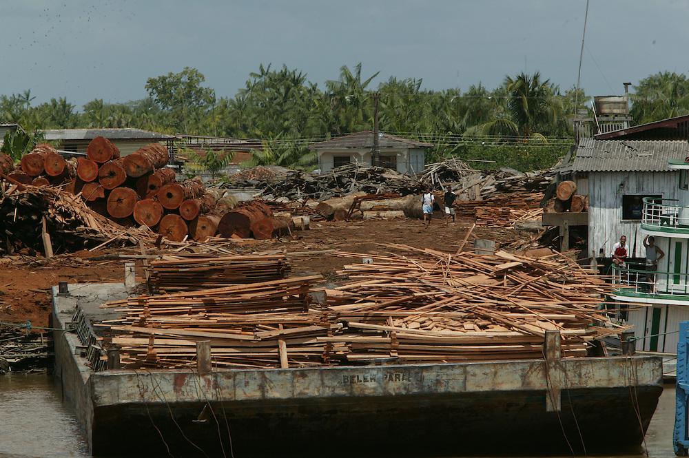 Dec. 11, 2003: The Madenorte sawmill at Breves in Para State, Brazil. ©Daniel Beltra