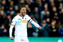 Martin Olsson of Swansea City celebrates after Swansea City win 1-0 - Rogan/JMP - 22/01/2018 - FOOTBALL - Liberty Stadium - Swansea, Wales - Swansea City v Liverpool - Premier League.