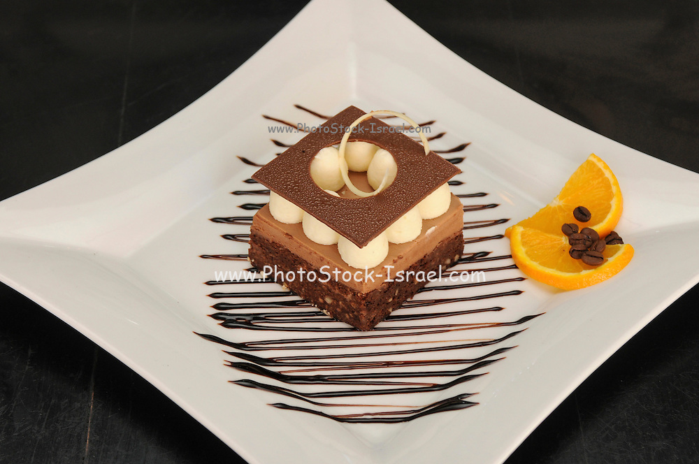 dark and white Chocolate layer cake