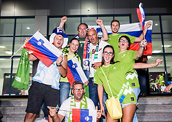 Supporters of Slovenia prior to the Final basketball match between National Teams  Slovenia and Serbia at Day 18 of the FIBA EuroBasket 2017 at Sinan Erdem Dome in Istanbul, Turkey on September 17, 2017. Photo by Vid Ponikvar / Sportida