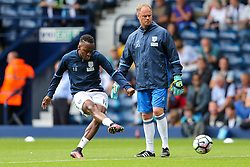 Saido Berahino of West Bromwich Albion in action during the warm up - Rogan Thomson/JMP - 28/08/2016 - FOOTBALL - The Hawthornes - West Bromwich, England - West Bromwich Albion v Middlesbrough - Premier League.
