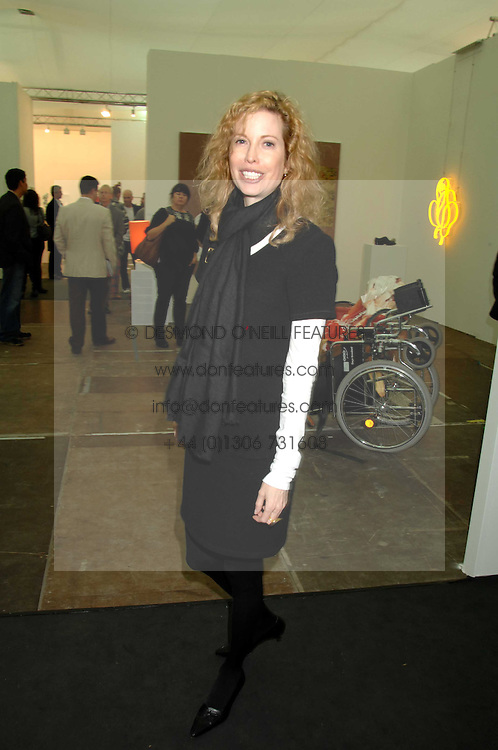 DIANDRA LUKER first wife of actor Michael Douglas at the opening of Frieze Art Fair 2007 held in regent's Park, London on 10th October 2007.<br /><br />NON EXCLUSIVE - WORLD RIGHTS