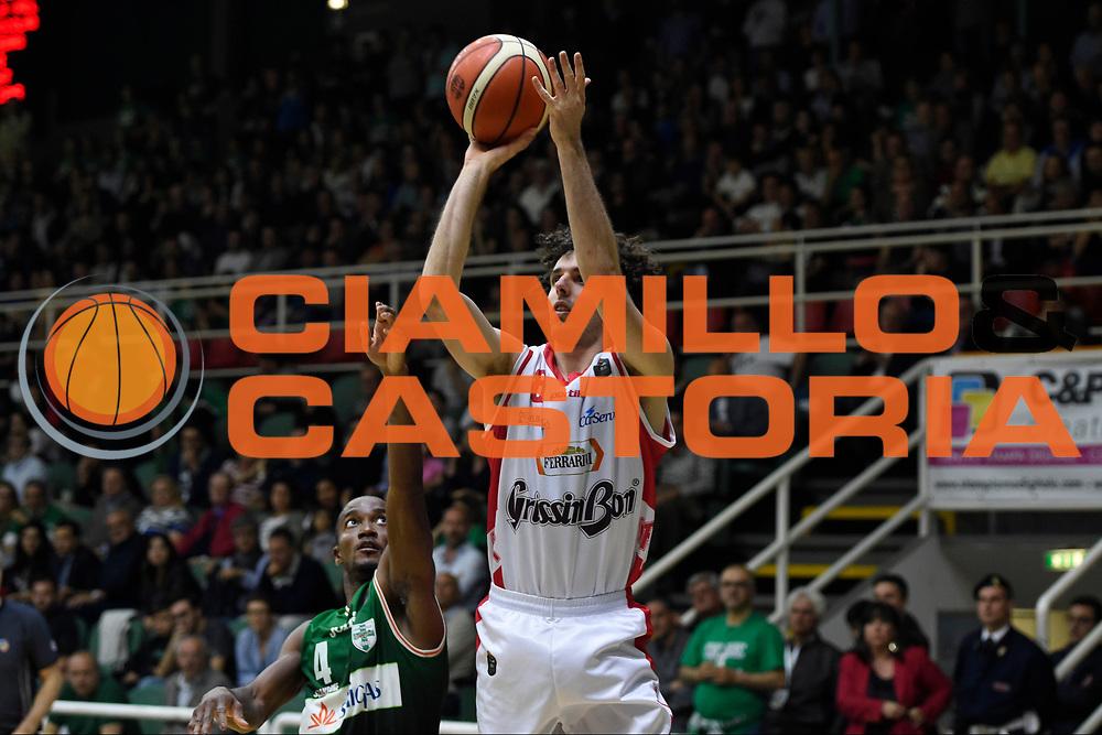 Della Valle Amedeo<br /> Sidigas Avellino - Grissin Bon Reggio Emilia<br /> Lega Basket Serie A 2016-2017<br /> Playoff Gara 2<br /> Avellino 15/05/2017<br /> Foto Ciamillo-Castoria