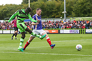Forest Green Rovers Toni Gomes(25) shoots at goal misses the target during the EFL Sky Bet League 2 match between Forest Green Rovers and Exeter City at the New Lawn, Forest Green, United Kingdom on 9 September 2017. Photo by Shane Healey.