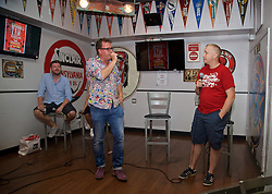 LOS ANGELES, USA - Tuesday, July 26, 2016: Neil Atkinson and Chris Pajak during an Anfield Wrap live podcast on day six of Liverpool FC's USA Pre-season Tour. (Pic by David Rawcliffe/Propaganda)