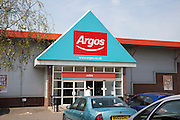 Argos store in Suffolk Retail park, central Ipswich, Suffolk, England, UK