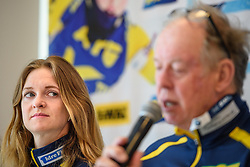 March 15, 2019 - –Stersund, Sweden - 190315 Mona Brorsson and Wolfgang Pichler, head coach of Sweden at a press conference with the Swedish Biathlon team during the IBU World Championships Biathlon on March 15, 2019 in Östersund..Photo: Petter Arvidson / BILDBYRÃ…N / kod PA / 92267 (Credit Image: © Petter Arvidson/Bildbyran via ZUMA Press)