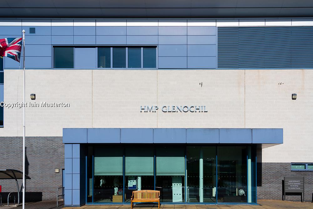 Exterior view of HMP Glenochil prison in Clackmannanshire, Scotland, UK