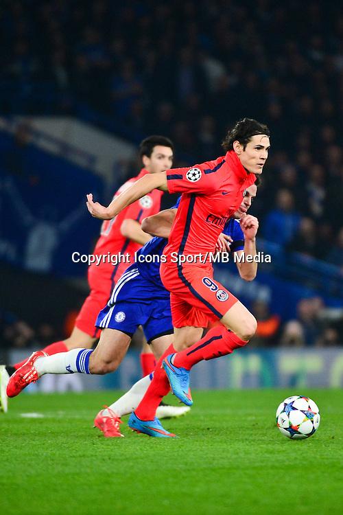 Edinson CAVANI / Cesar AZPILICUETA - 11.03.2015 - Chelsea / Paris Saint Germain - 1/8Finale retour Champions League<br /> Photo : Dave Winter / Icon Sport