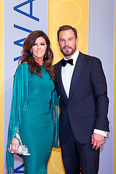 November 2, 2016 - Nashville, Tennessee, USA - Karen Fairchild and Jimi Westbrook from Little Big Town on the red carpet at the 50th Annual CMA Awards that took place at the Bridgestone Arena in downtown Nashville, Tennessee. (Credit Image: © Jason Walle via ZUMA Wire)