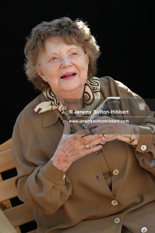 """Muriel Spark, Scottish author, at 21st Edinburgh Book Festival. Author of """"Prime of Miss Jean Brodie"""", this is her first appearance at book festival in the 21 year history, and a rare appearance back in her native Edinburgh. She now lives reclusively in Tuscany, Italy..( 7 pictures, non-exclusive)"""