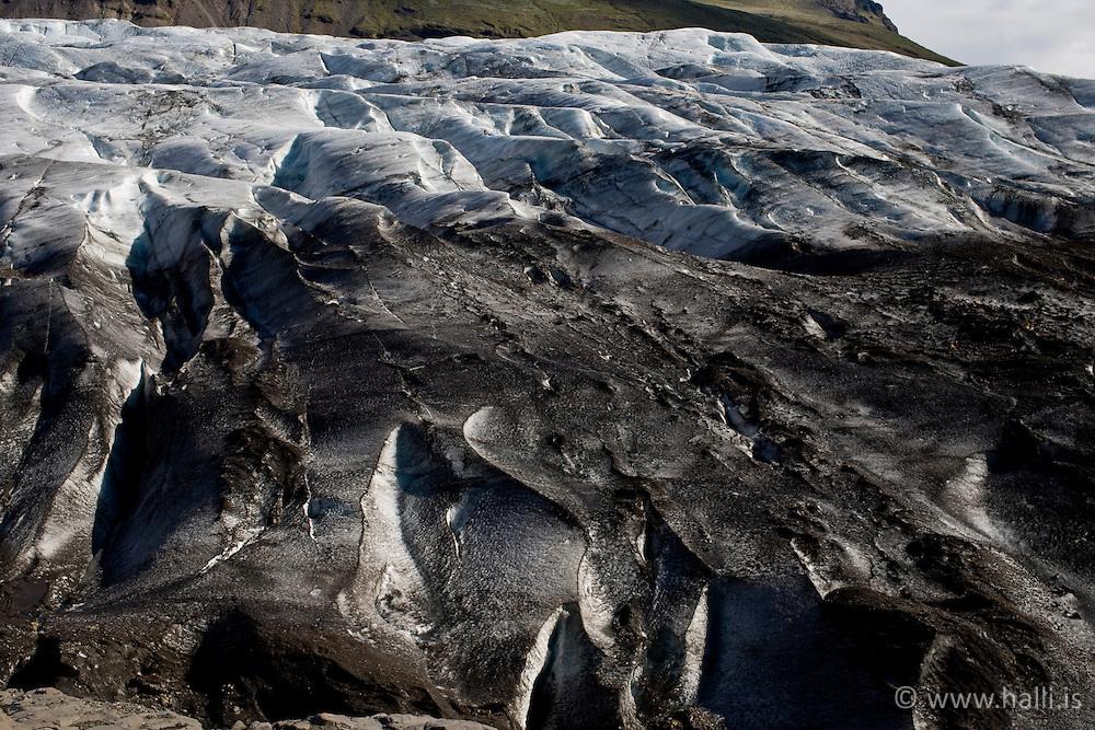 The glacier, Svinafellsjokull, Iceland - Svinafellsjökull