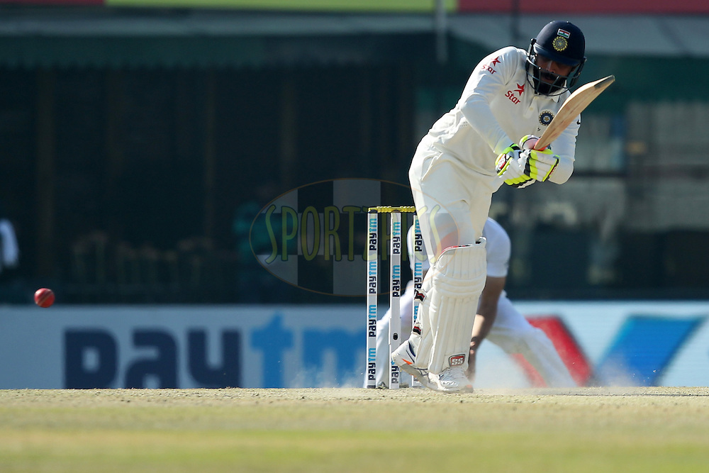 Ravindra Jadeja of India in action during day 3 of the third test match between India and England held at the Punjab Cricket Association IS Bindra Stadium, Mohali on the 28th November 2016.Photo by: Prashant Bhoot/ BCCI/ SPORTZPICS