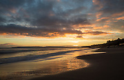 Bournemouth Beach in Dorset around sunset