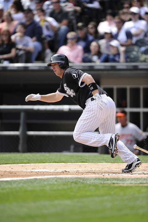 CHICAGO - MAY 01:  Brent Morel #22 of the Chicago White Sox bats against the Baltimore Orioles on May 01, 2011 at U.S. Cellular Field in Chicago, Illinois.  The Orioles defeated the White Sox 6-4.  (Photo by Ron Vesely)  Subject:   Brent Morel