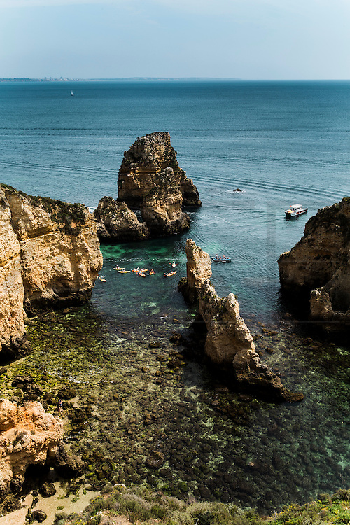 Ponta da Piedade, Algarve, Portugal. The Huffington Post says that Ponta da Piedade, in Lagos, is one of the most beautiful beaches in the world.