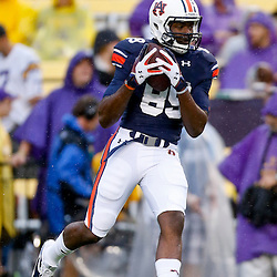Sep 21, 2013; Baton Rouge, LA, USA; Auburn Tigers wide receiver Jaylon Denson (89) before a game against the LSU Tigers at Tiger Stadium. Mandatory Credit: Derick E. Hingle-USA TODAY Sports