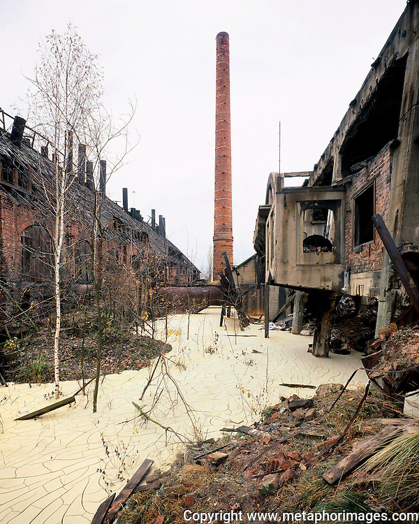 Steel Mill, Poland, 2004. <br /> The industrial region of Silesia is a landscape under transformation. Many old industrial sites are now large shopping centres. Some more novel interventions include the conversion of tailings dumps into ski resorts. <br /> Wastelands is a journey into abandoned and transient spaces in Australia and Europe. Over a number of years I&rsquo;ve travelled with a large format camera to record some of the unusual ways that buildings decline, and the more unusual ways that space is reordered. <br /> <br /> A common practice is to transform abandoned industrial sites into modern centres of consumption. Old industrial centres often find new life as shopping centres. But family fun parks in abandoned nuclear power stations and the prospect of a European wilderness in Chernobyl reveal that landscape is never a finished project, nor what we always expect.<br /> <br /> Large format photography has had a long association with architecture and landscape. It expands detail and corrects perspective, often recording more than we can actually see, compelling us to look longer.