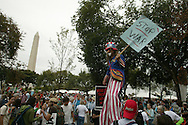 Thousands gathered for the anti-war march on Washington.