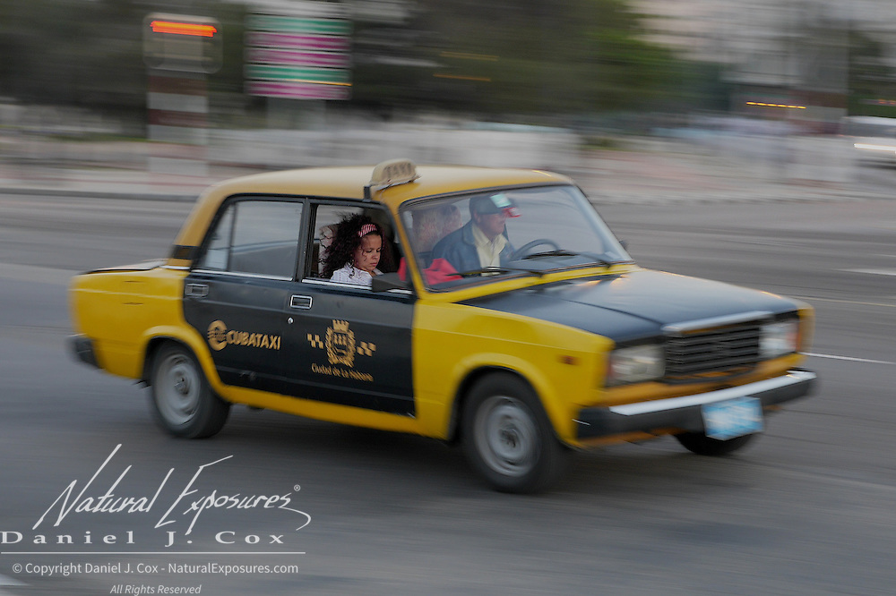 Taxi on the streets of Havana, Cuba
