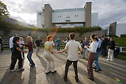 The Finnish National Opera at Tölöö Lake. Salsa dance course.