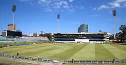 Durban. 221018.  General view during day 1 of the 4 Day Franchise Series match between Hollywoodbets Dolphins and Warriors at Kingsmead Cricket Ground on October 22, 2018 in Durban, South Africa. Picture Leon Lestrade. African News Agency. ( ANA ).