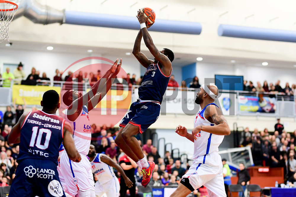 Fred Thomas of Bristol Flyers - Photo mandatory by-line: Ryan Hiscott/JMP - 17/01/2020 - BASKETBALL - SGS Wise Arena - Bristol, England - Bristol Flyers v London City Royals - British Basketball League Championship