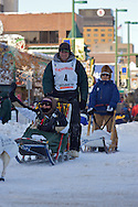 March 7th, 2009:  Anchorage, Alaska - Ed Iten of Kotzebue, Alaska starts his way down 4th Avenue to begin the 2009 Iditarod.