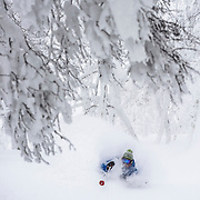 Jake Cohn, pits deep in Rusutsu, Japan