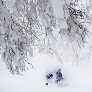 Jake Cohn, pits deep in Rusutsu, Japan