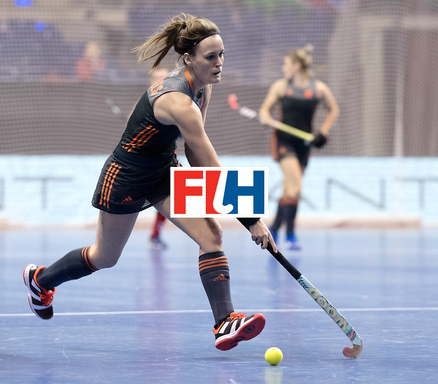 BERLIN - Indoor Hockey World Cup<br /> Women: Netherlands - United States<br /> foto: Donja Zwinkels.<br /> WORLDSPORTPICS COPYRIGHT FRANK UIJLENBROEK