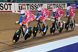© Licensed to London News Pictures. 19/02/2011. Team Great Britain head out for a training ride before Friday evening's final at the UCI Track Cycling World Cup in Manchester this evening (19/02/2011). Photo credit should read: Reuben Tabner/LNP