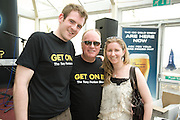 DJ Tony Fenton with Eoin O Callaghan, Newbridge and Ciara Murray Newbridge, at the Budweiser Ice Cold Summer BBQ, broadcast live on the Tony Fenton Show at The Galway Bay Hotel in Salthill. Photo:Andrew Downes.. .Both Duke Special and The Divine Comedy performed at the summer kick-off party and Today FM's Tony Fenton Show broadcast live from the hotel all afternoon...The 150 invited guests included Today FM listeners ad Budweiser Ice Cold Facebook fans from all over the country. Guests also won the chance to win a cool Grand in cash, meet Mr. Iceman and of course enjoy a pint of Budweiser Ice Cold, the coldest pint ever!..Enjoy Budweiser Ice Cold sensibly visit www.drinkaware.ie ..This event was strictly over 18's,..-ENDS-..FOR FURTHER INFORMATION PLEASE CONTACT:.Killian Burns / Aoiffe Madden..Killian.burns@ogilvy.com / aoiffe.madden@ogilvy.com.WHPR..Tel: 01 6690030.