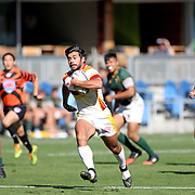 USC Trojans score a try against Cal Poly San Luis Obispo, day 2 Silicon Valley 7's, Avaya Stadium, San Jose, California. Photo by Barry Markowitz, 11/6/17, 11am