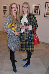 Left to right, DAISY DE VILLENEUVE and JAN DE VILLENEUVE at a private view of photographs by David Bailey entitled 'Bailey's Stardust' at the National Portrait Gallery, St.Martin's Place, London on 3rd February 2014.