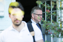 © Licensed to London News Pictures . 04/07/2016 . London , UK . MICHAEL GOVE leaves his home in West London . Gove is standing for the leadership of the Conservative Party following David Cameron's resignation . Photo credit: Joel Goodman/LNP