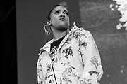 Rapsody on stage at Summer Spirit Festival 2018 at Merriweather Post Pavilion in Columbia, MD on Saturday, August 4, 2018.