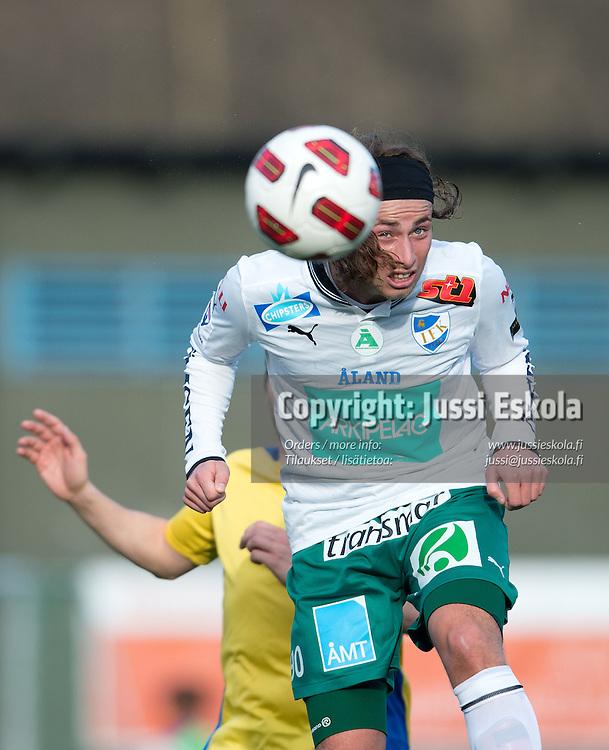 Patrick Byskata. Gnistan - IFK Mariehamn. Suomen Cup. 7. kierros. Helsinki 25.4.2012. Photo: Jussi Eskola