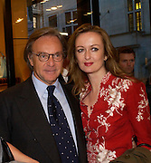 Diego Della Valle and Lucy Yeomans. Tod's hosts Book signing with Dante Ferretti celebrating the launch of 'Ferretti,- The art of production design' by Dante Ferretti. tod's, Old Bond St. 19 April 2005.  ONE TIME USE ONLY - DO NOT ARCHIVE  © Copyright Photograph by Dafydd Jones 66 Stockwell Park Rd. London SW9 0DA Tel 020 7733 0108 www.dafjones.com